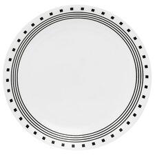 """Livingware 10.25"""" City Block Dinner Plate (Set of 6)"""