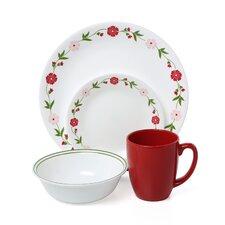 Livingware Spring Pink 16 Piece Dinnerware Set