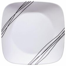 """Simple Sketch Square 10.25"""" Dinner Plate (Set of 6)"""