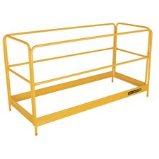 """Jobsite Series 3.46' H x 69.48"""" W x 30"""" D Steel Baker Scaffold Guardrail Kit"""