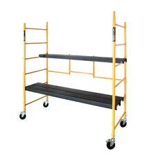Jobsite Series 6.54' H x 78'' W x 30'' D Steel Maxi Round Folding Scaffolding with 300 lb. Load Capacity Type 1A Duty Rating