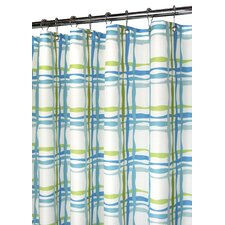 Prints Wavy Plaid Shower Curtain