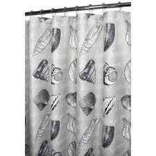 Watershed Prints Seashore Notes Shower Curtain