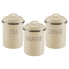 Vintage Kitchen 3-Piece Storage Container Set (Set of 3)