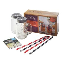 9 Piece Mug/Straw Set