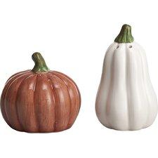 Harvest 2 Piece Dolomite Pumpkin Salt and Pepper Shaker Set