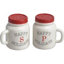 2 Piece Mason Jar Salt and Pepper Shaker Set