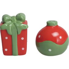 2 Piece Ornament and Gift Salt and Pepper Shaker Set