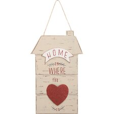 Valentine Home is Where the Heart is Sign