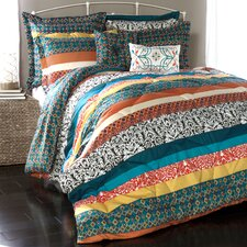 Boho Stripe 7 Piece Comforter Set