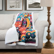 Maya Sherpa Throw Blanket