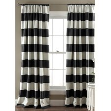 Stripe Room Darkening Curtain Panel (Set of 2)
