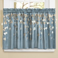 Flower \ Kitchen Light-filtering  Tier Curtain (Set of 2)