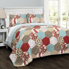 Grace Patchwork 3 Piece Quilt Set