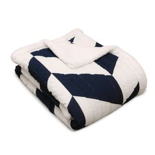 Jigsaw Chevron Throw Blanket