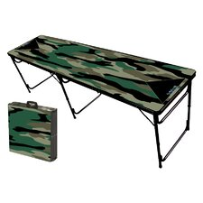 Camo Green Folding and Portable Beer Pong Table