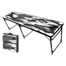 Camo White Folding and Portable Beer Pong Table