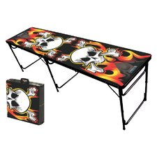 Flames Folding and Portable Beer Pong Table