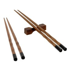 2-Pair Reusable Chopstick with Rests Set