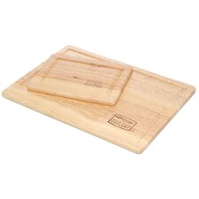 Woodworks 2 Piece Rubberwood Cutting Board Set