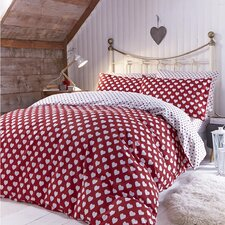 Brushed Hearts Duvet Set