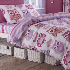 Owl 100% Cotton Fitted Sheet