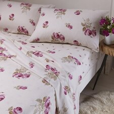 Brushed Floral 100% Cotton Sheet Set