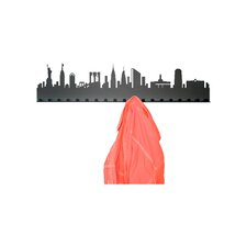 City Skyline 19 Hook Wall Mounted Coat Rack