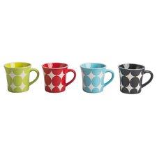 4 Piece Dottie Fashion Mug Set (Set of 4)