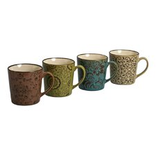 4 Piece 17 oz. Persia Mug Set (Set of 4)