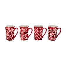 4 Piece Kristen Fashion Mug Set (Set of 4)