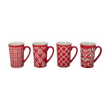4 Piece Kristen Fashion Mug Set (Set of 4)