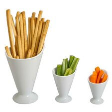 Footed Serving Cone (Set of 4)