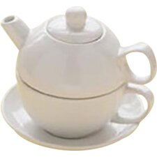 0.38-qt. Tea for One with Saucer Teapot Set