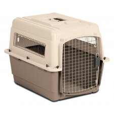 Medium Vari Ultra Fashion Dog Kennel® in Bleached Linen and Beige