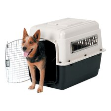 Intermediate Vari Ultra Fashion Dog Kennel® in Bleached Linen and Black
