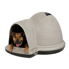 Indigo Dog Kennel with Microban in Taupe and Black