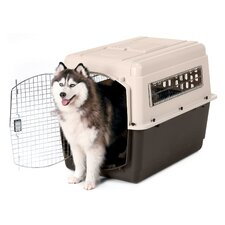 X-Large Vari Ultra Fashion Dog Kennel® in Bleached Linen and Coffee Ground