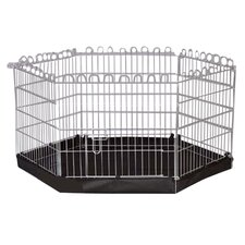 6 Sided Pet Pen with Base