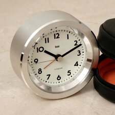 Landmark Astor Aluminium Travel Alarm Clock