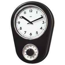 "8.5"" Kitchen Timer Retro Modern Wall Clock"
