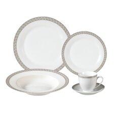 Natalia Porcelain 24 Piece Dinnerware Set