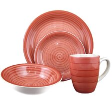 Swirl 16 Piece Dinnerware Set