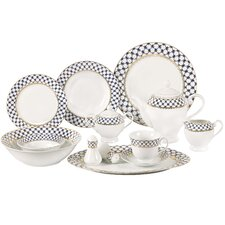 Jeanette 57 Piece Porcelain Dinnerware Set