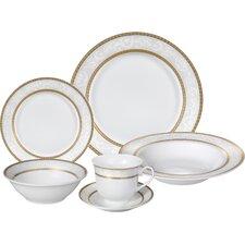 Amelia Porcelain 24 Piece Dinnerware Set