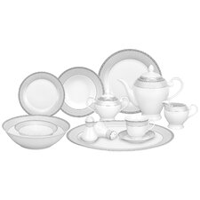 Alina 57 Piece Porcelain Dinnerware Set