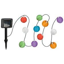 Solar 10-Light 8 ft. Lantern String Lights