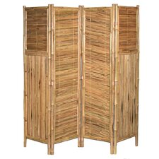 """71"""" x 72"""" Screen Middle Diagonal 4 Panel Room Divider"""