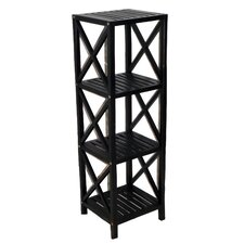 """Bamboo 4 Tier 46"""" Accent Shelves Bookcase"""