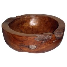 Teak Large Round Decorative Bowl